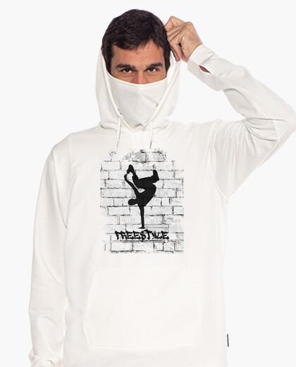 Sweat-shirt de guérilla urbaine, blanc cassé, style libre