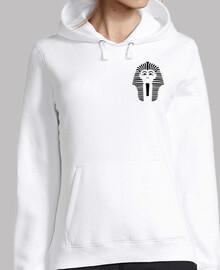 Sweat-shirt femme, blanc logo