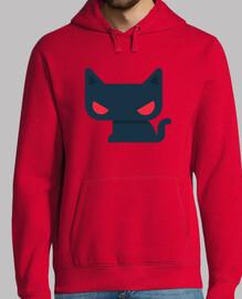 sweat-shirt homme chat - différentes couleurs et tailles