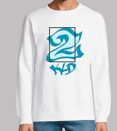 sweat-shirt sans capuchon, 2 kld bleu