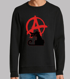 Sweat Homme - Black Anarchist Cat