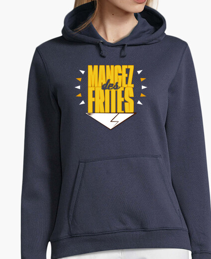 Sweat Mangez des frites - Women/Blue marine