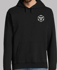 sweater ingress illuminated hood, black