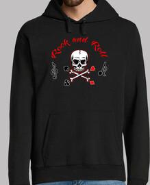 sweatshirt capucha rock - and - roll - musik