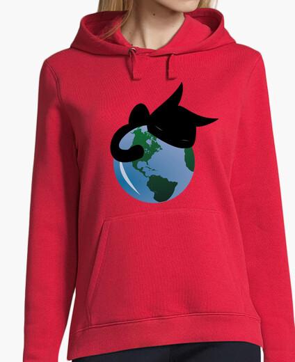 Sweatshirt cat sleeping hoodie