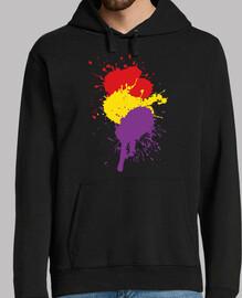 sweatshirt espagnol république splash (homme)