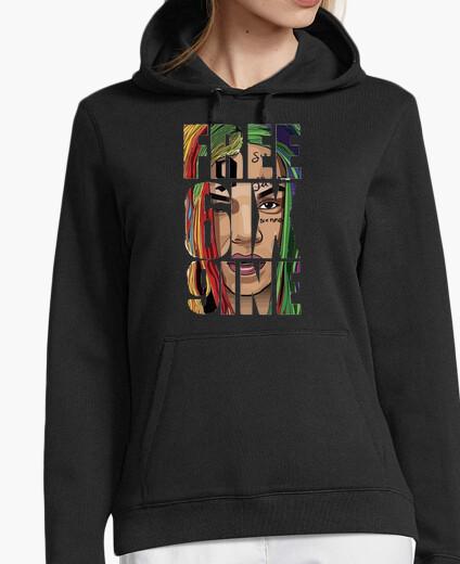 Sweat sweatshirt free6ix9ine noir