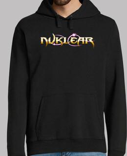 sweatshirt men - nuklear-logo (schwarz)