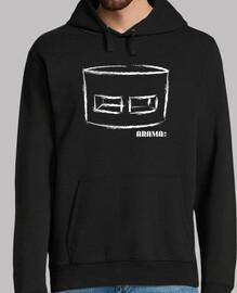 sweatshirt mit capucha in schwarz