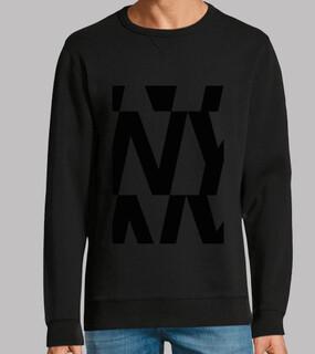 sweatshirt nybombre, sweatshirt, graphitgrau