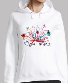 sweatshirt papillons sur la tête