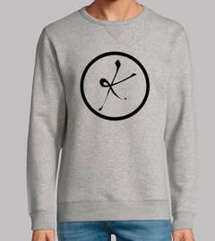 sweatshirt, sans capuche, k noir