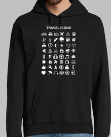 sweatshirt travel icons