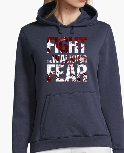 Sweatshirt woman fight the walking fear hoodie