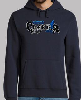 sweatshirt wowchakra logo komplett blau neon