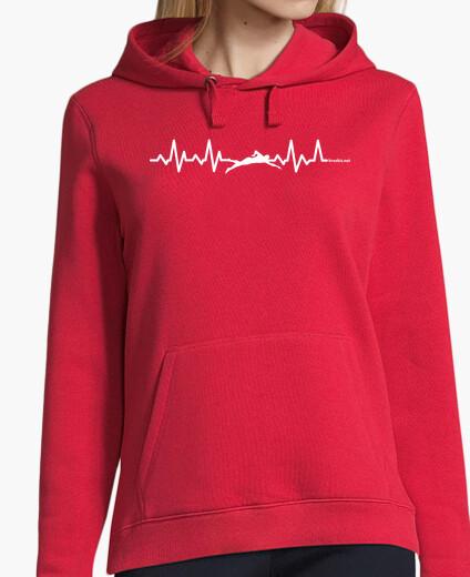 Swimming heartbeat hoody