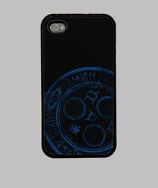 Symbol Blue Silent Hill - Funda iPhone 4, negra
