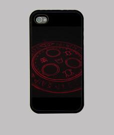 Symbol Red Silent Hill - Funda iPhone 4, negra