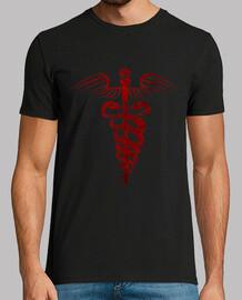 symbole caducée - édition de sang