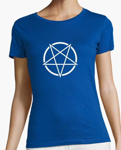 Tee-shirt symbole de pentagramme (blanc)