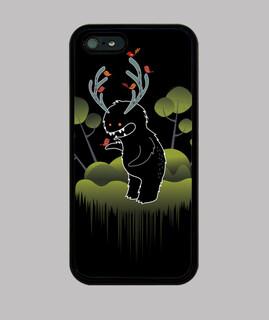 sympathisch waldmonster mit hörnern und tieren -fund iphone 5 / 5s, schwarz