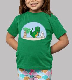 t-rex baby - green