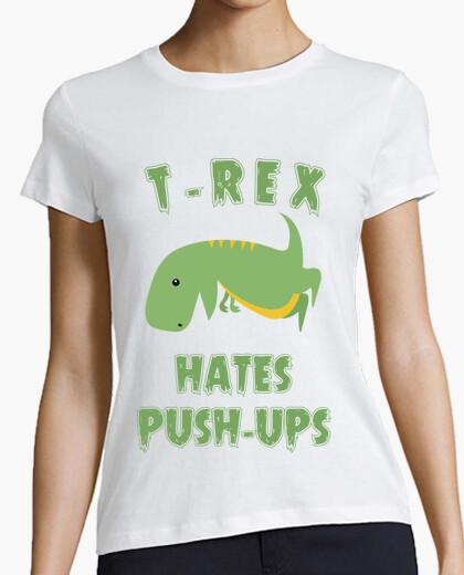 Tee-shirt t-rex déteste push ups