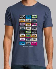 t-shirt - cassette la mia prima playlist