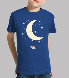 t-shirt - la luna e lumaca