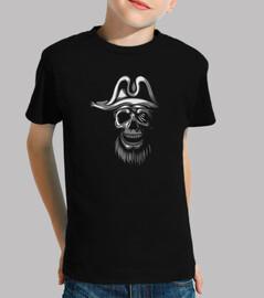 t-shirt - skull piratas bianchi