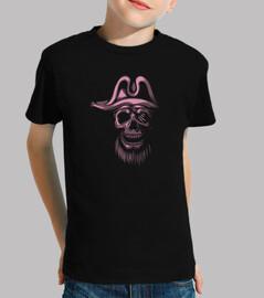 t-shirt - skull piratas rosa
