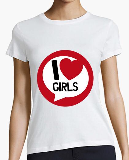 T-shirt - ti amo cuore delle ragazze