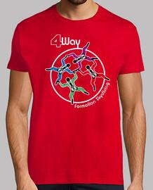t-shirt 4 vie formazione paracadutismo mod.1