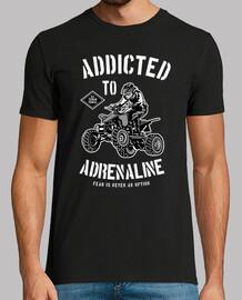 t-shirt 4x4 rally motos rétro accro à l'adrénaline