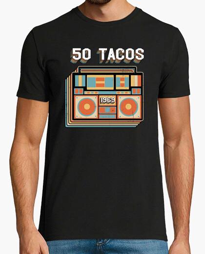 c0c71d61a t-shirt 50 tacos - 1969 retro vintage birthday gift T-shirt - 2145331 |  Tostadora.com