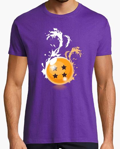 T-shirt  4 stelle nere- sfere del drago