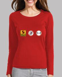 T-shirt  femme coronavirus gestes qui sauvent