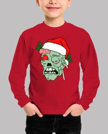 t-shirt a manche longue petit zombie de noel