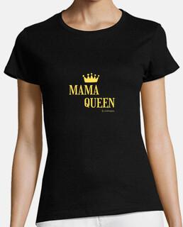 t-shirt à manches courtes mama queen