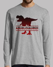 t-shirt à manches longues dinosaure grands-parents pour dinosaure grand-père