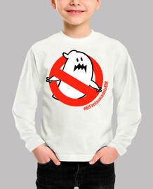 t-shirt à manches longues garçon fille le fantôme d'em