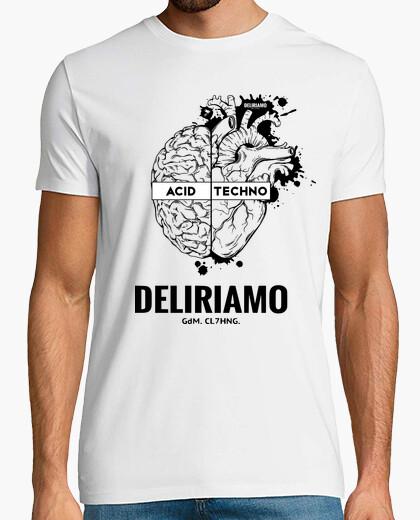 T-shirt Acid Techno Cervello Cuore Grande Deliriamo