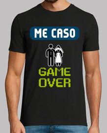 t-shirt addio al celibato game over