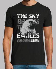 t-shirt aigle américain nature