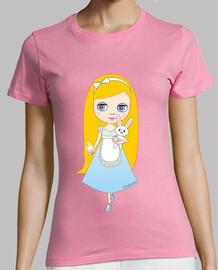 t-shirt alice in wonderland doll