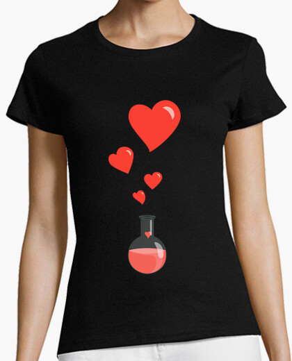 T-shirt amore boccetta chimica of hearts...
