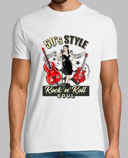t-shirt anni '50 rockabilly pinup vintage