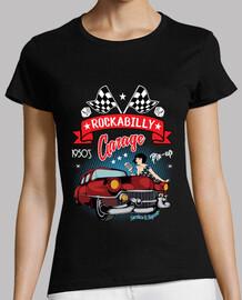 t-shirt anni '50 rockabilly pinup auto vintage americana