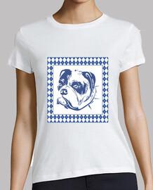 t-shirt argyle dog rombi animali