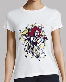 t-shirt argyle tattoo stile colorato